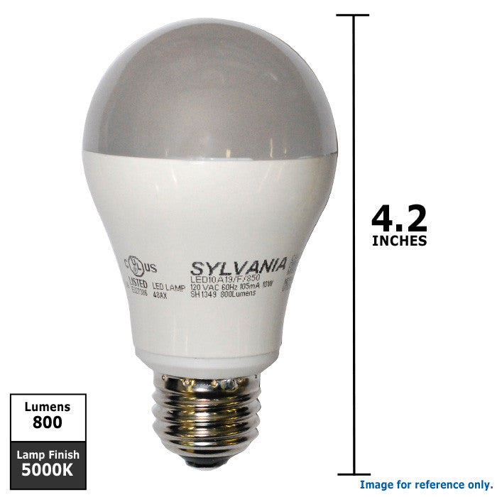 Osram Sylvania 10W A19 LED Full Spectrum 5000K Light Bulb - 60w ...:Osram Sylvania 10W A19 LED Full Spectrum 5000K Light Bulb - 60w replacement,Lighting
