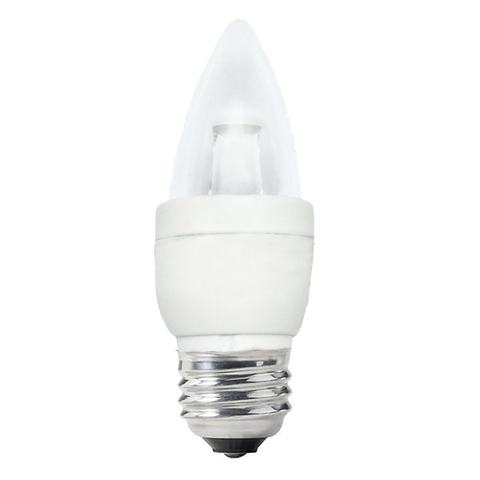 Osram Sylvania 6w Candelabra Dimmable LED B13 Blunt Tip E26 base 2500K lamp