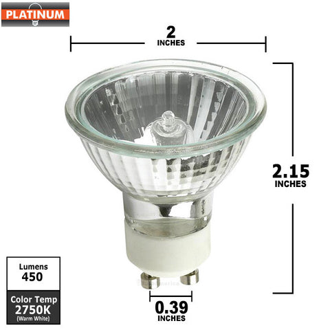 50w 120v MR16 EXN GU10 FL Halogen Light Bulb