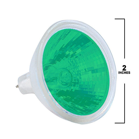 PLATINUM EXT/G - MR16 50w Colored in Green light bulb