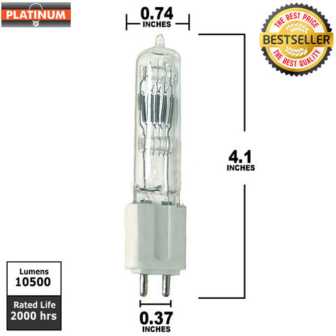 PLATINUM GLA 575w 115v 2000hr G9.5 Base Halogen Bulb