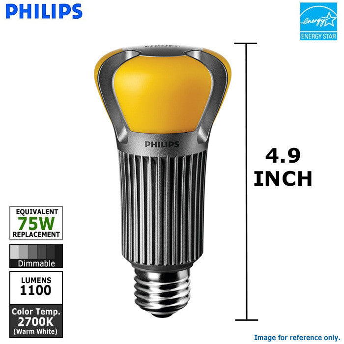 PHILIPS LED 15W bulb White light A19 Dimmable Warm 75w UMqSzVpG