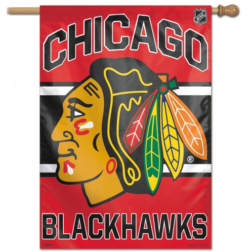 Load image into Gallery viewer, Chicago Blackhawks House Flag; Polyester