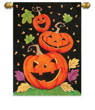 Load image into Gallery viewer, Happy Haunts Printed Seasonal House Flag; Polyester