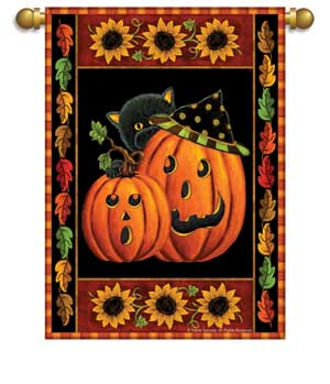 Load image into Gallery viewer, Halloween Spirit Printed Seasonal House Flag; Polyester