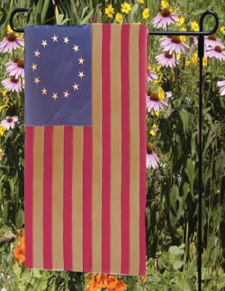 Load image into Gallery viewer, Heritage Series Antiqued Cotton Betsy Ross Garden Flag