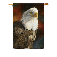 "Load image into Gallery viewer, ""Portrait of an Eagle"" Printed Seasonal House Flag; Polyester"