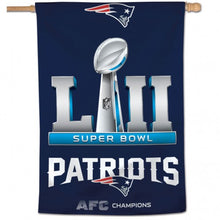 Load image into Gallery viewer, New England Patriots 2018 AFC Championship House Flag; Polyester