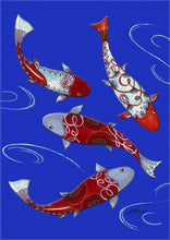 "Load image into Gallery viewer, ""Koi Fish Collection"" Printed Garden Flag; Polyester"