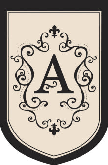 "Load image into Gallery viewer, Monogram ""A"" Double Sided Applique House Flag; Polyester"