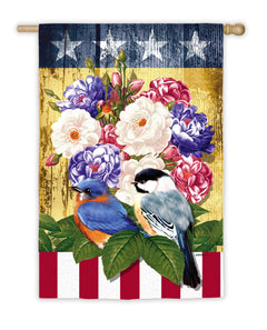 """Little Patriots"" Printed Seasonal House Flag; Polyester"