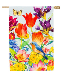 """Spring Garden"" Printed Seasonal House Flag; Polyester"