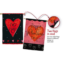 "Load image into Gallery viewer, ""Be Mine"" Valentines Day Printed Suede Seasonal House Flag; Polyester"