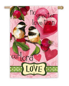 Love Birds Printed Suede Seasonal House Flag