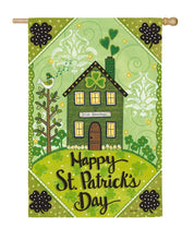 "Load image into Gallery viewer, ""Irish Blessings"" Printed Suede Seasonal House Flag; Polyester"
