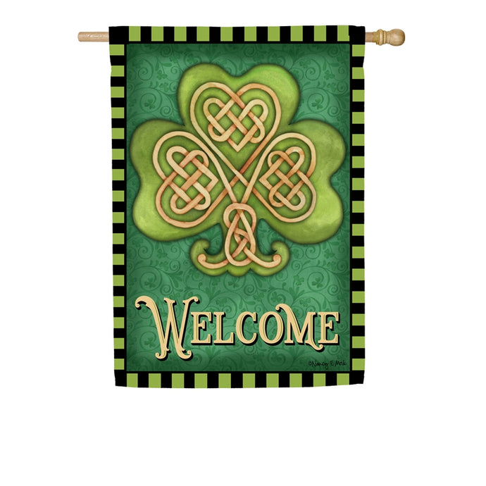Celtic Shamrock House Flag