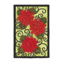 "Load image into Gallery viewer, ""Geranium Polka Dot"" Printed Seasonal Garden Flag; Polyester"