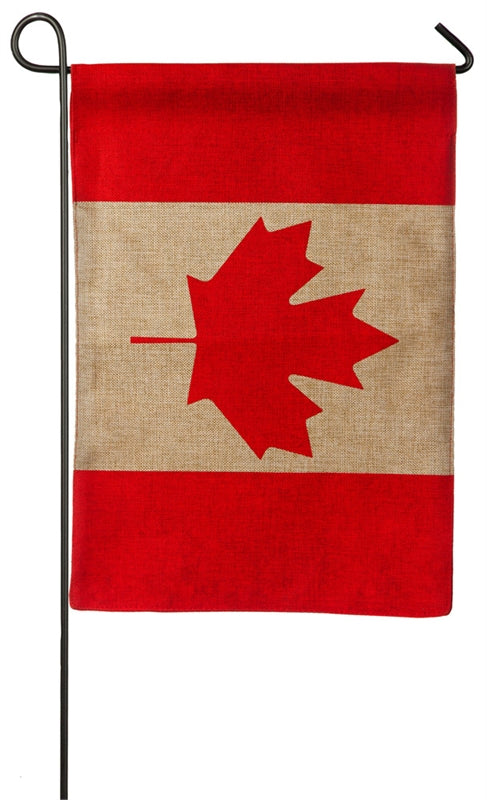 "Load image into Gallery viewer, ""Canada"" Printed Seasonal Garden Flag; Polyester Burlap"