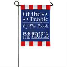 "Load image into Gallery viewer, ""For the People"" Printed Seasonal Garden Flag; Polyester Burlap"