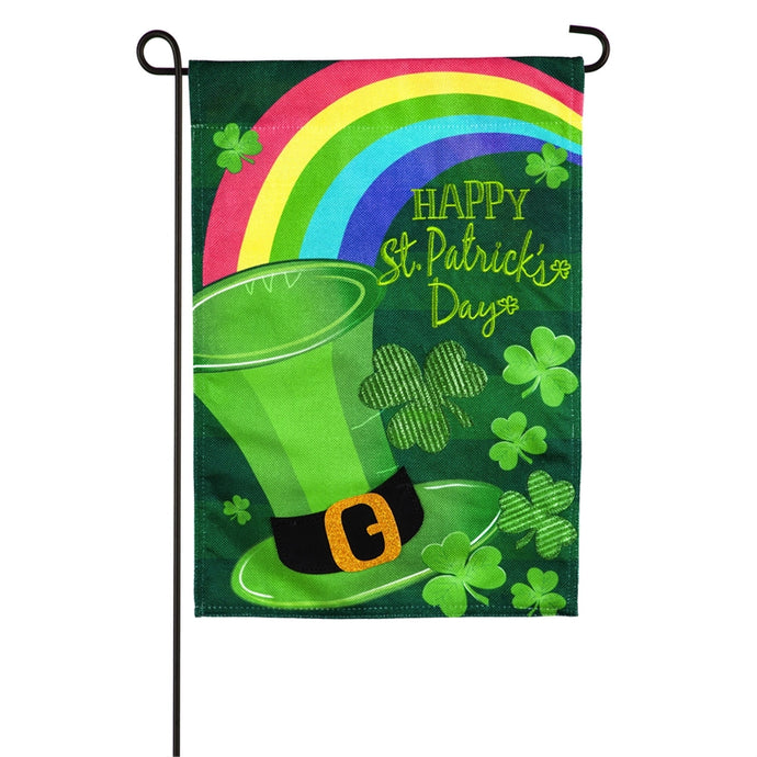 St.Patrick's Day Hat Seasonal Garden Flag
