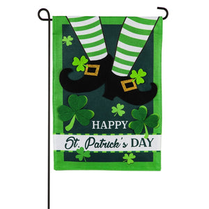 Leprechaun Shoes Seasonal Garden Flag