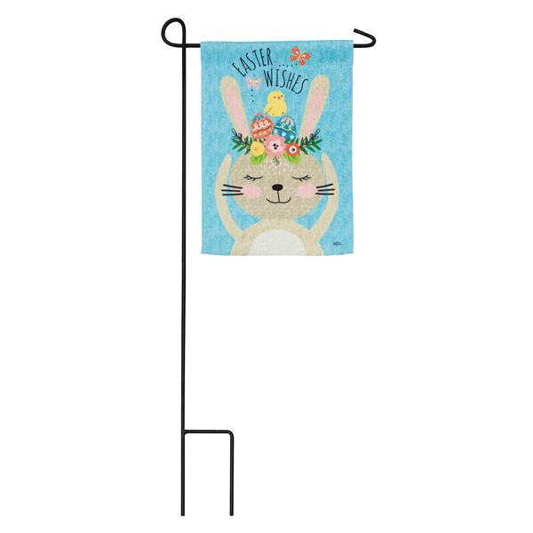 "Load image into Gallery viewer, ""Easter Wishes"" Printed Suede Garden Flag; Polyester"