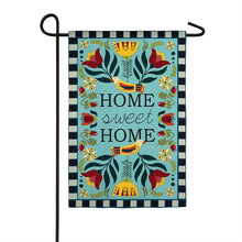 "Load image into Gallery viewer, ""Home Sweet Home"" Seasonal Garden Flag; Linen Textured Polyester"