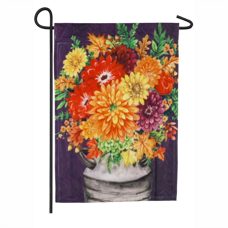 "Load image into Gallery viewer, ""Fall Bouquet"" Printed Seasonal Garden Flag; Organza"