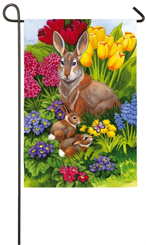"Load image into Gallery viewer, ""Easter Morning"" 2-Sided Printed Suede Seasonal Garden Flag; Polyester"