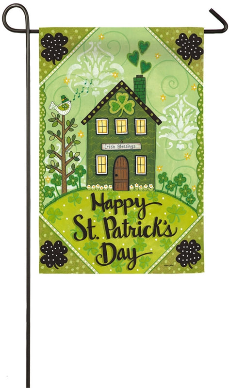 "Load image into Gallery viewer, ""Irish Blessings"" Printed Suede Seasonal Garden Flag; Polyester"