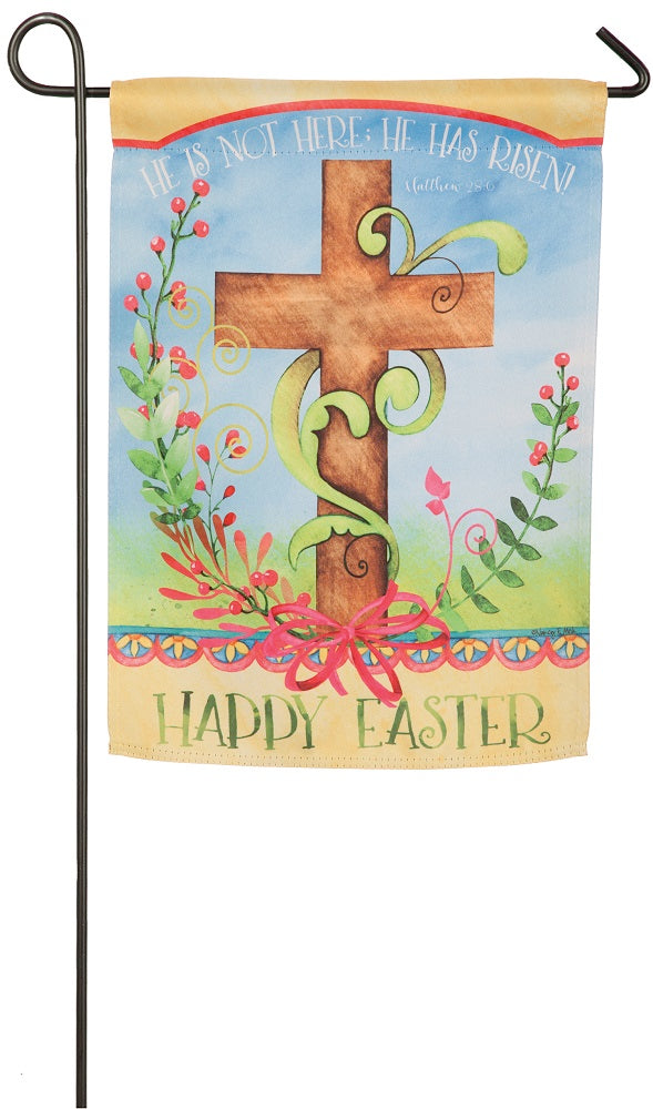 "Load image into Gallery viewer, ""Easter Blessing"" Printed Suede Seasonal Garden Flag; Polyester"