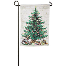 "Load image into Gallery viewer, ""O Christmas Tree"" Printed Suede Seasonal Garden Flag; Polyester"