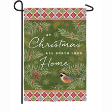 "Load image into Gallery viewer, ""Christmas Tradition"" Printed Suede Garden Flag; Polyester"