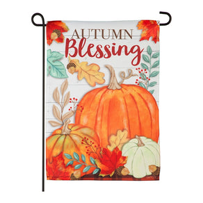 """Autumn Blessing"" Printed Suede Garden Flag; Polyester"