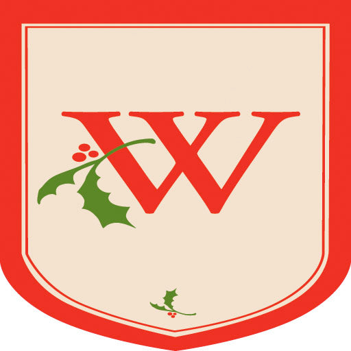 "Load image into Gallery viewer, Holiday Monogram ""W"" Double Sided Applique Seasonal House Flag; Polyester"