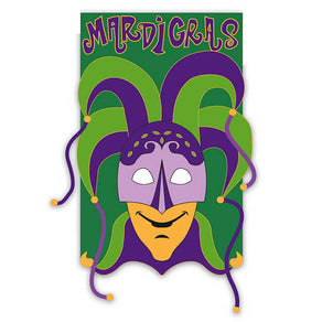 """Mardi Gras Bells"" Seasonal Applique Garden Flag; Polyester"