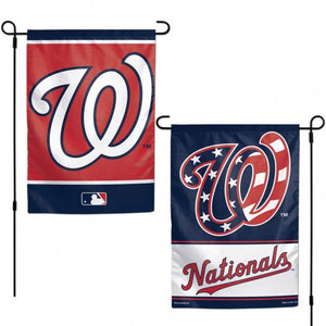 Washington Nationals Double Sided Garden Flag; Polyester