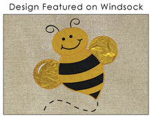 "Load image into Gallery viewer, ""Honey Bee"" Windsock; Burlap"