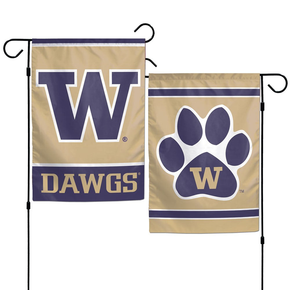 Load image into Gallery viewer, University of Washington Huskies Double Sided Vertical Garden Flag; Polyester