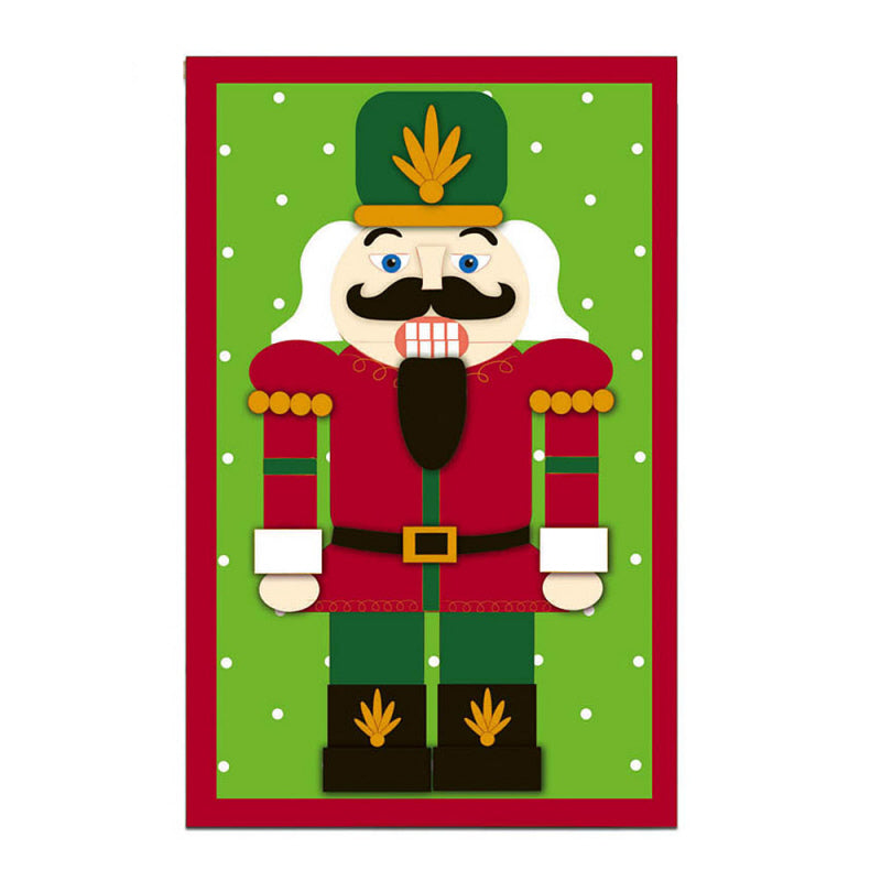 "Load image into Gallery viewer, ""Nutcracker"" Applique Seasonal Garden Flag; Polyester"