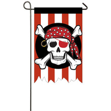 "Load image into Gallery viewer, ""Pirate"" Applique Seasonal Garden Flag; Polyester"