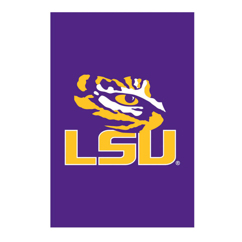 Load image into Gallery viewer, Louisiana State University Tigers Double Sided Applique Garden Flag; Polyester