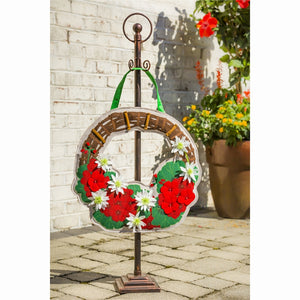 Decorative Bronze Metal Door Decor Hanger Stand
