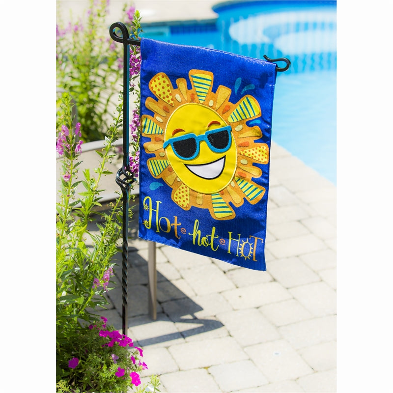 Load image into Gallery viewer, Black Cast Steel Garden Flag Pole