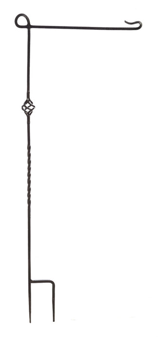 Black Cast Steel Garden Flag Pole