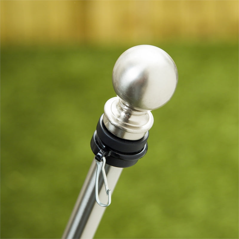 Load image into Gallery viewer, Adjustable Silver Metal Telescoping House Flagpole