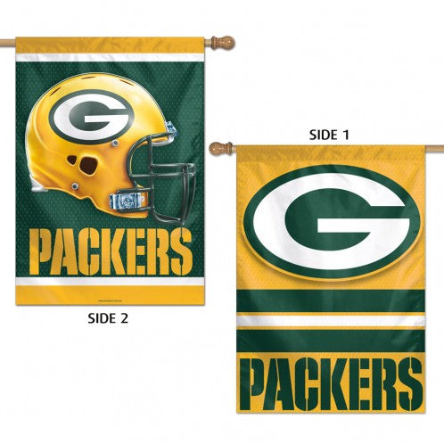 Load image into Gallery viewer, Green Bay Packers Double Sided House Flag; Polyester