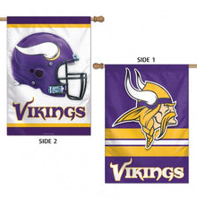 Load image into Gallery viewer, Minnesota Vikings Double Sided House Flag; Polyester