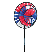 "Load image into Gallery viewer, Patriotic Triple Wheel Spinner; 14"" diameter"