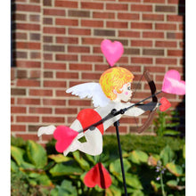 "Load image into Gallery viewer, Cupid Whirligig Spinner; Nylon 18""x10.5"", diameter 18"""